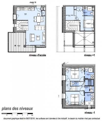 Rent in ski resort 4 room triplex chalet 6 people (Carcosa) - Le Hameau de Caseblanche - Saint Martin de Belleville - Plan