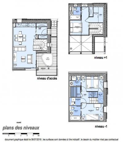 Rent in ski resort 4 room triplex chalet 6 people (Aigle) - Le Hameau de Caseblanche - Saint Martin de Belleville - Plan