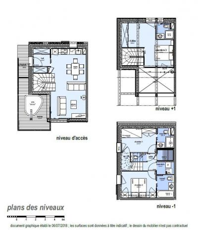 Rent in ski resort 4 room triplex chalet 6 people (Léa) - Le Hameau de Caseblanche - Saint Martin de Belleville - Plan