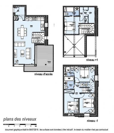 Rent in ski resort 5 room triplex chalet 8 people (Eceel) - Le Hameau de Caseblanche - Saint Martin de Belleville - Plan