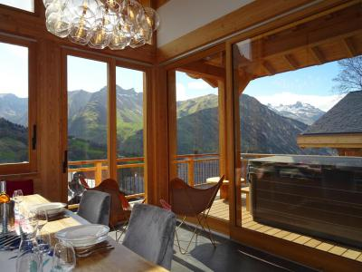 Rent in ski resort 6 room triplex chalet 12 people (Ibis Viperae) - Le Hameau de Caseblanche - Saint Martin de Belleville - Table