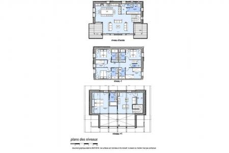 Rent in ski resort 7 room triplex chalet 14 people (Haleakala) - Le Hameau de Caseblanche - Saint Martin de Belleville - Plan