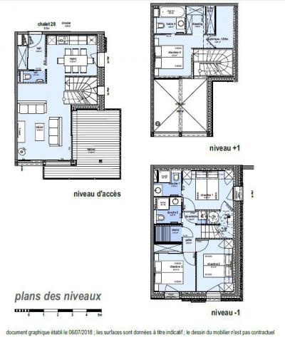 Rent in ski resort 5 room triplex chalet 8 people (Winterfold) - Le Hameau de Caseblanche - Saint Martin de Belleville - Plan