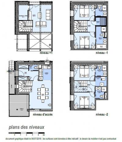 Rent in ski resort 5 room triplex chalet 8 people (Landenoire) - Le Hameau de Caseblanche - Saint Martin de Belleville - Plan