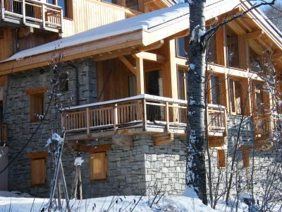 Rent in ski resort 4 room triplex chalet 6 people (Carcosa) - Le Hameau de Caseblanche - Saint Martin de Belleville - Winter outside