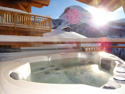 Rent in ski resort 4 room triplex chalet 6 people (Aigle) - Le Hameau de Caseblanche - Saint Martin de Belleville