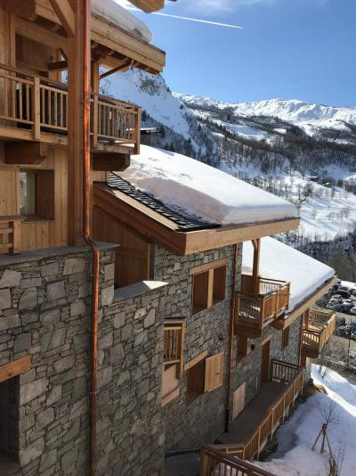 Rent in ski resort 4 room triplex chalet 6 people (Retreat) - Le Hameau de Caseblanche - Saint Martin de Belleville - Winter outside