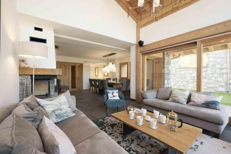 Rent in ski resort 7 room duplex chalet 12 people (Bouc Blanc) - Le Hameau de Caseblanche - Saint Martin de Belleville - Living room