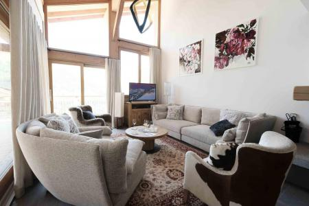 Rent in ski resort 7 room triplex chalet 12 people (Myriel) - Le Hameau de Caseblanche - Saint Martin de Belleville - Living room