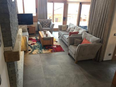Rent in ski resort 7 room triplex chalet 12 people (Tawny) - Le Hameau de Caseblanche - Saint Martin de Belleville - Living room
