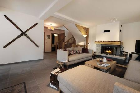Rent in ski resort 8 room quadriplex chalet 14 people (Allium) - Le Hameau de Caseblanche - Saint Martin de Belleville - Living room