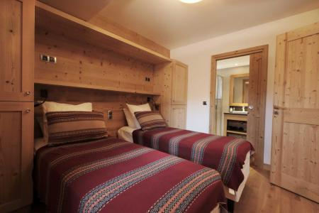 Rent in ski resort 8 room quadriplex chalet 14 people (Allium) - Le Hameau de Caseblanche - Saint Martin de Belleville - Single bed