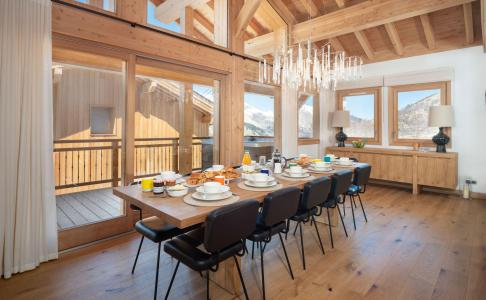 Rent in ski resort 8 room quadriplex chalet 14 people (Chanterella) - Le Hameau de Caseblanche - Saint Martin de Belleville - Dining area