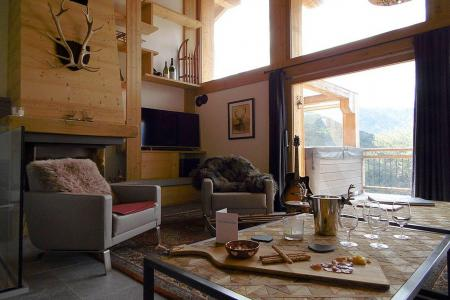 Rent in ski resort 8 room triplex chalet 14 people (Cerf d'Or) - Le Hameau de Caseblanche - Saint Martin de Belleville - Living room