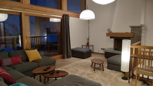 Rent in ski resort 8 room triplex chalet 16 people (Litote) - Le Hameau de Caseblanche - Saint Martin de Belleville - Living room