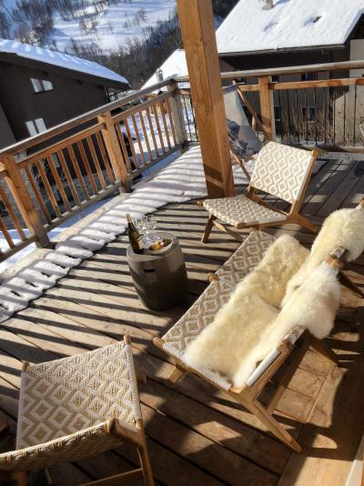 Location au ski Chalet triplex 5 pièces 8 personnes (Retrouvailles) - Le Hameau de Caseblanche - Saint Martin de Belleville - Terrasse