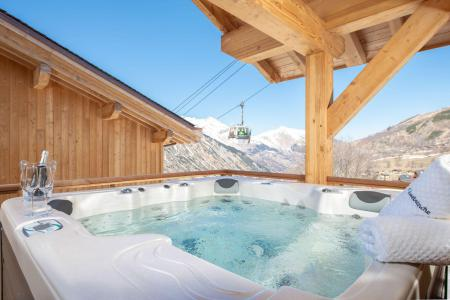 Rent in ski resort 8 room quadriplex chalet 14 people (Chanterella) - Le Hameau de Caseblanche - Saint Martin de Belleville - Jacuzzi