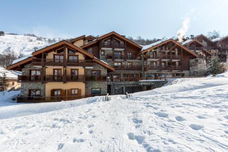 Location au ski Les Chalets du Gypse - Saint Martin de Belleville - Extérieur hiver