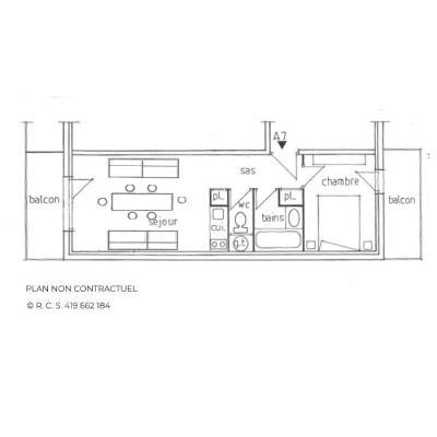 Location au ski Appartement 2 pièces 4 personnes (A7) - Residence Gentianes - Saint Martin de Belleville