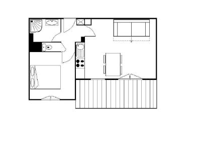 Rent in ski resort 2 room apartment 4 people (A1) - Résidence le Cochet - Saint Martin de Belleville - Plan