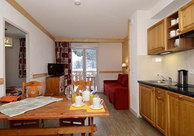 Location au ski Residence Les Bergers - Saint Sorlin d'Arves - Kitchenette
