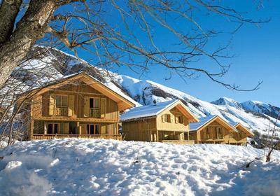 Location au ski Residence Les Chalets De L'arvan Ii - Saint Sorlin d'Arves - Extérieur hiver