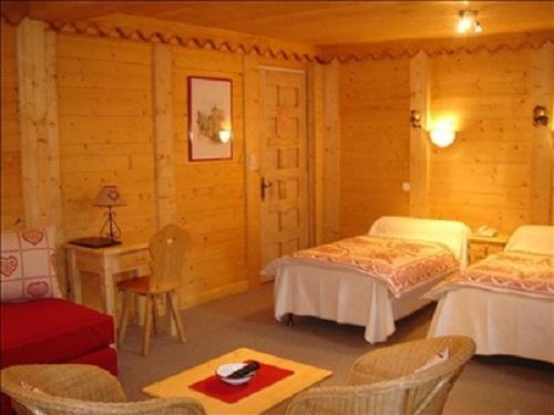 Location au ski Chambre Triple (Bains WC Supérieure) - Hôtel les Glaciers - Samoëns - Chambre