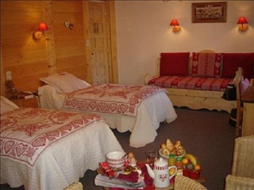 Location au ski Chambre Twin (Bains WC Supérieure) - Hôtel les Glaciers - Samoëns - Chambre