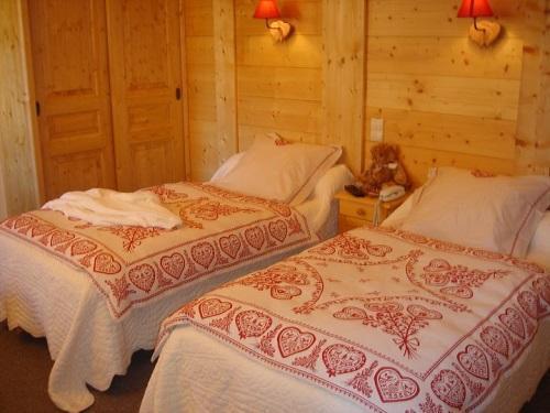 Location au ski Chambre Twin (Douche WC) - Hôtel les Glaciers - Samoëns - Chambre