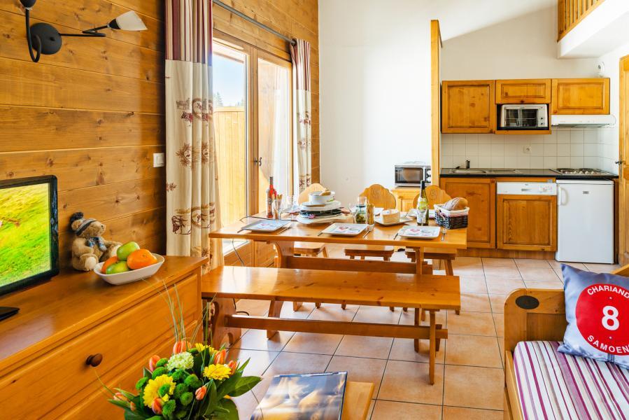 Location au ski Résidence Lagrange les Fermes de Samoëns - Samoëns - Coin repas