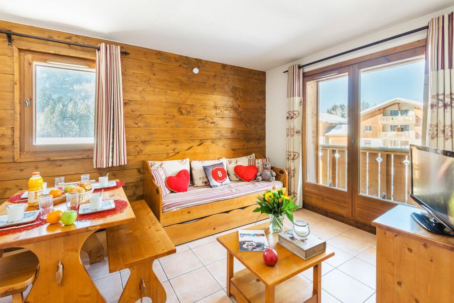 Location au ski Résidence Lagrange les Fermes de Samoëns - Samoëns - Coin séjour