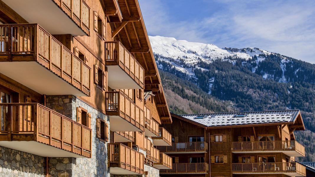 Urlaub in den Bergen Résidence les Chalets de Layssia - Samoëns - Draußen im Winter