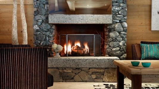 Rent in ski resort Résidence la Reine des Prés - Samoëns - Fireplace