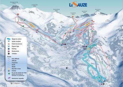 Аренда на лыжном курорте Квартира студия со спальней для 4 чел. (207) - Résidence les Cimes - Sauze - Super Sauze