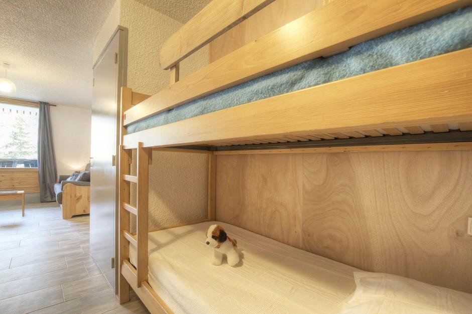 Location au ski Studio coin montagne 4 personnes (735) - Residence Bois Des Coqs - Serre Chevalier - Lits superposés