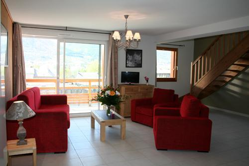 Location au ski Residence L'aigle Bleu - Serre Chevalier - Coin séjour