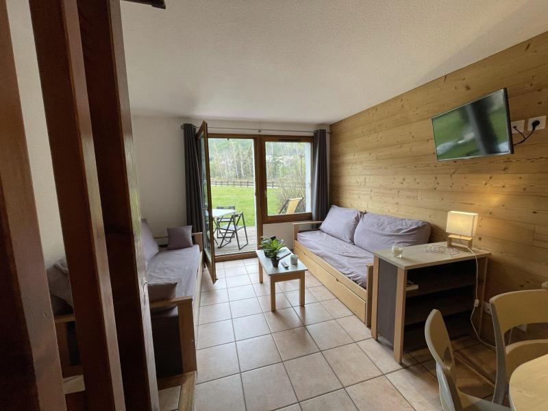 Location au ski Chalet duplex 3 pièces 6 personnes (22) - Les Chalets du Jardin Alpin - Serre Chevalier - Banquette-lit tiroir
