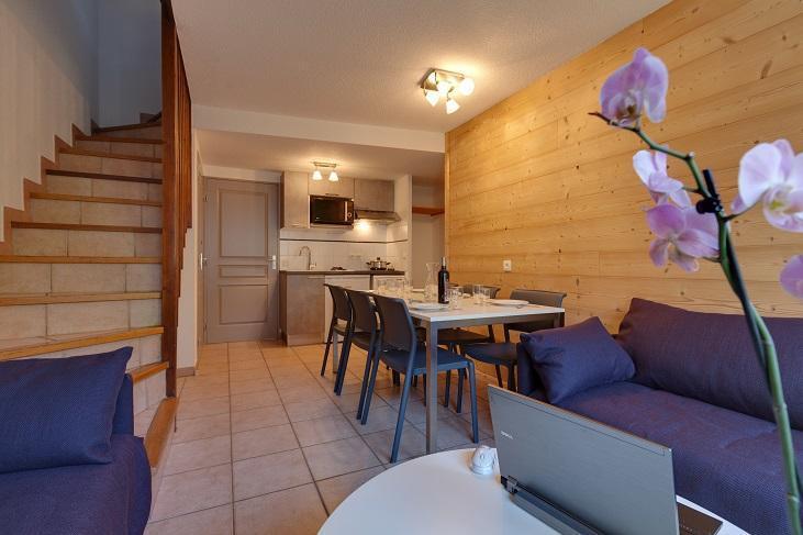 Location au ski Chalet duplex 3 pièces 6 personnes (32) - Les Chalets du Jardin Alpin - Serre Chevalier - Séjour