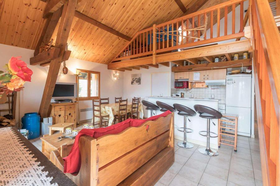 Ski verhuur Appartement 4 kamers mezzanine 12 personen - Résidence la Clé des Champs - Serre Chevalier - Woonkamer