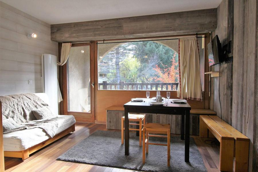 Ski verhuur Studio cabine 6 personen (A021) - Résidence le Prarial - Serre Chevalier - Woonkamer