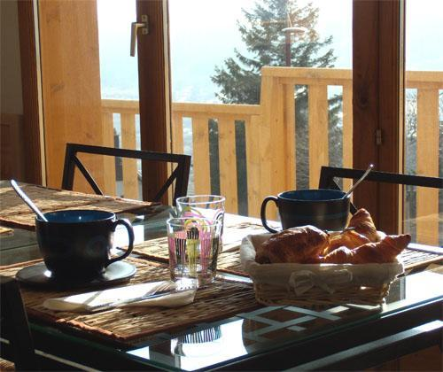 Location au ski Residence Ondeale - Super Besse - Coin repas