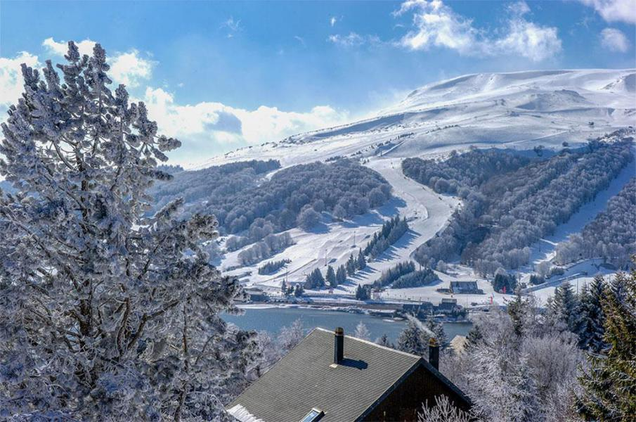 Rent in ski resort Les Chalets de Super-Besse - Super Besse - Winter outside