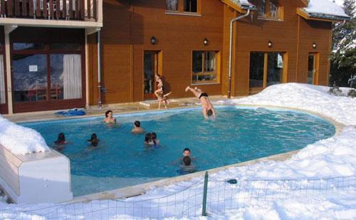 Location au ski Residence Chalets Margot - Superdévoluy - Piscine