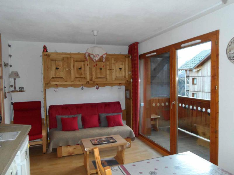 Аренда на лыжном курорте Logement 2 pièces 4 personnes (AN22) - Les Chalets de SuperD Ancolie - Superdévoluy - Салон