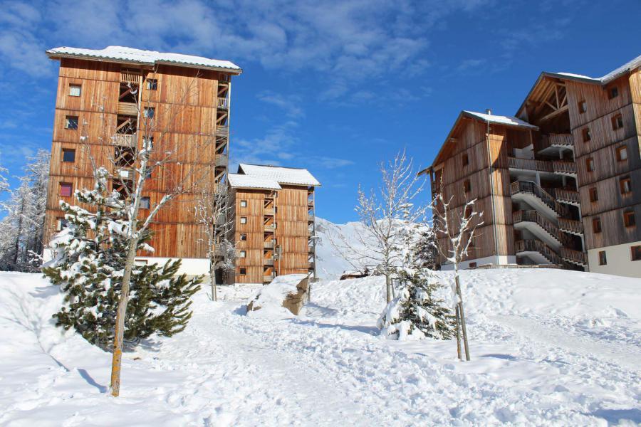 Location au ski Les Chalets de SuperD Hélianthème - Superdévoluy - Extérieur hiver