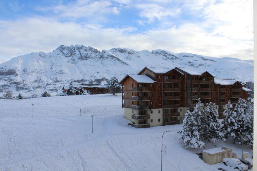 Аренда на лыжном курорте Квартира студия для 2 чел. (BA0408N) - Résidence le Bois d'Aurouze - Superdévoluy - зимой под открытым небом
