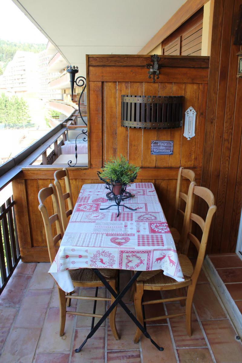 Location au ski Studio 4 personnes (BA0242S) - Résidence le Bois d'Aurouze - Superdévoluy - Balcon