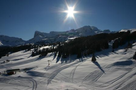 Location au ski Appartement 2 pièces 4 personnes (TC12) - Résidence les Toits du Dévoluy - Superdévoluy - Extérieur hiver