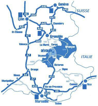Rent in ski resort Les Chalets de SuperD Fraxinelle - Superdévoluy - Plan