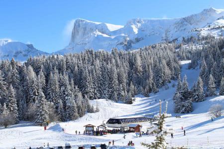 Rent in ski resort Les Chalets de SuperD Gentiane - Superdévoluy - Winter outside